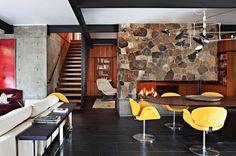 La Canada Flintridge mid-century house - living room
