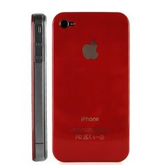 Red Replicase Hard Crystal Air Jacket Case for ATT iPhone 4 4G 16GB 32GB GSM
