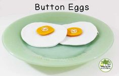 You can make your play food and work on fine motor skills at the same time. This includes two felt eggs with a button on yolk. The felt is doubled and is heat sealed rather than sewn. The egg is 4 inc Activities Of Daily Living, Pediatric Ot, Sensory Toys, Play Food, Fine Motor Skills, Bilateral, Eggs, Buttons, Dramatic Play