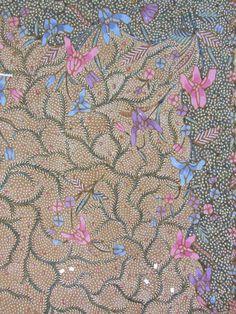 Detail of Demakan Batik. Handrawn Indonesian Batik