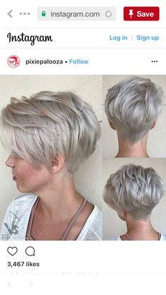 New hair silver bob mom Ideas Short White Hair, Short Cropped Hair, Short Hair With Layers, Short Hair Cuts, Short Hair Styles, Pixie Bob Hairstyles, Mom Hairstyles, Pixie Haircut, Cut My Hair