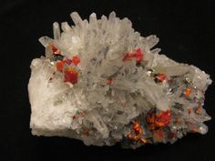 Mineral Specimen  Realgar Quartz  Palomo by NearEarthExploration, $42.00