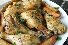 Simple Baked Chicken Drumsticks Recipe - Food.com - 443758 gonna try with Thighs - that is what is in the freezer today