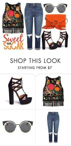 """""""Nothing Says Cool-Girl Edge Quite Like Fringe Detailing"""" by latoyacl ❤ liked on Polyvore featuring Aquazzura, Alice + Olivia and Tory Burch"""
