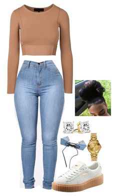 """Untitled #2087"" by basnightshine1015 ❤ liked on Polyvore featuring Puma and Versus"