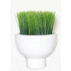 "FL1294   Grass in White Ceramic Conatiner   11""H x 8""W x 8""D  $157 Retail"
