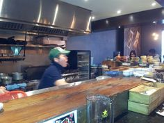 GUU (398 Church St., Toronto) - This is 1 of the 2 shots I took of the kitchen.  The staff was always greeting customers as they came and left Guu.  I loved their friendly vibe.