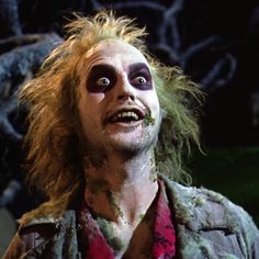 "Beetlejuice, played by Michael Keaton, from the movie, Beetlejuice (1988) - ""We've come for your daughter, Chuck."""
