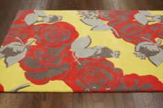 Rugs USA Prescott Roses Multi Rug | Contemporary Rugs.  .  Roses, modern, bold, graphic, home decor, interior design, pattern, style.