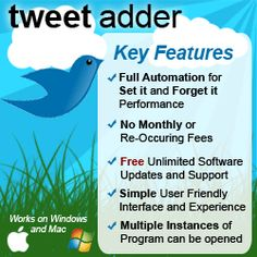 TweetAdder Pros and Cons | Chef Katrina So your not a facebook fan but you love twitter. How to grow your audience and have fun with Twitter.  Highly recommend this tool!