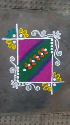 Simple nature wedding dress beautiful ideas for 2019 Simple Rangoli Designs Images, Rangoli Designs Flower, Small Rangoli Design, Rangoli Border Designs, Rangoli Designs Diwali, Rangoli Designs With Dots, Flower Rangoli, Beautiful Rangoli Designs, Rangoli Colours