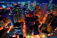 Makati City by Night (Makati City, Philippines) Shangri La Makati, Makati City, Filipino Culture, World Thinking Day, Manila Philippines, Concrete Jungle, Night City, Island Beach
