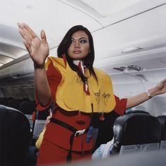 Brian Finke- Airplane Stewardess ( Roshayati, Air Asia)