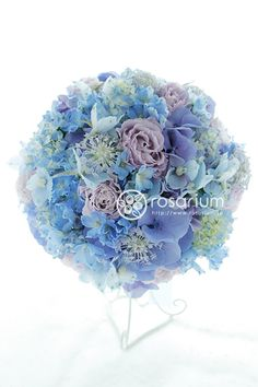 青いお花のブーケ|ロザブロ ウェディングフラワー&ギフトフラワー