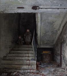 """st-just: """"A Chernobyl Horror Story by Stefan Koidl """" Arte Horror, Horror Art, Horror Pics, Creepy Horror, Creepy Art, Scary, Creepy Stuff, Chernobyl, Art Café"""
