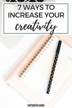 7 Ways to Increase Your Creativity | Creativity is essential when it comes to blogging and, I don't know about you, but my blog work tends to go downhill when my creativity does. Sometimes I'm lacking creativity and have no idea why, but luckily I have a few go-to strategies I use to boost my creativity. Here are a few tips you can try to increase your creativity as well. - Very Erin Blog