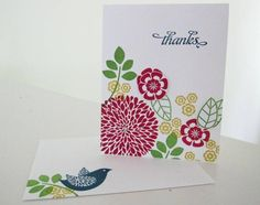 Betsy's Blossom Thank You by brandycox - Cards and Paper Crafts at Splitcoaststampers
