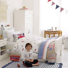 Buy Clearance > The Little White Company > Little London Duvet Cover & Pillowcase Set from The White Company