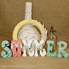 Home. Made. Interest. | Hello Summer! Painted Block Set | http://www.homemadeinterest.com
