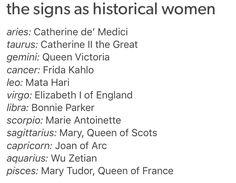 #Aquarius ♒ Sagittarius, Aquarius, Mary Tudor, Bonnie Parker, Mata Hari, Historical Women, Joan Of Arc, Elizabeth I, Zodiac Signs