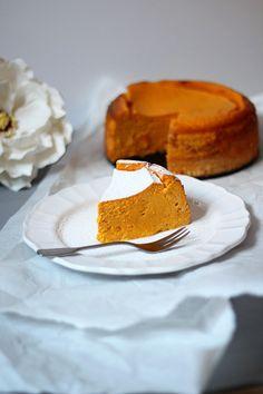 Recipe for Pumpkin Cheesecake Köstliche Desserts, Holiday Desserts, Delicious Desserts, Easy Pumpkin Pie, Pumpkin Dessert, Pumpkin Cheesecake Recipes, Pumpkin Recipes, Cheesecake Desserts, Raspberry Cheesecake