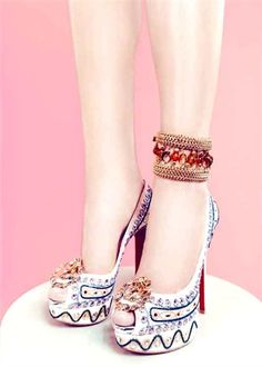 Cannot get over these heels!!!!! the tribal look is sooooo trendy