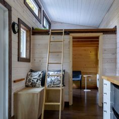 Tiny Houses - Individual concepts of space and interior design are possible. Tiny Houses, Bunk Beds, Innovation, Windows, Interior Design, Space, Furniture, Home Decor, Large Backyard