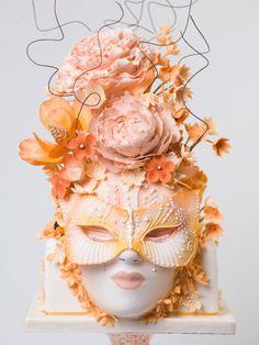 Cake Wrecks - Home - Sunday Sweets: Masquerade! Gorgeous Cakes, Pretty Cakes, Amazing Cakes, Alternative Wedding Cakes, Wedding Cake Alternatives, Masquerade Cakes, Masquerade Theme, Fantasy Cake, Sculpted Cakes