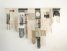 In general the macrame wall hanging comes in several fantastic versions. Neutral Textured Macrame Wall Hanging Bohemian Earth Colors Linen and Ivory Home Decor Fiber Art Yarn Tapestry Boho Chic Nursery Art. Macrame Wall Hanging Diy, Macrame Art, Macrame Design, Macrame Projects, Art Macramé, Macrame Patterns, Soft Sculpture, Fiber Art, Textiles