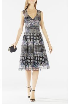 """Brides.com: 77 Mother-of-the-Bride Dresses You Can Buy Right Now  """"Aspara"""" printed jersey dress, $605, Saloni available at Matches FashionPhoto: Courtesy of Matches Fashion"""