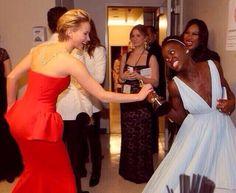 So cute #Oscars #JenniferLawrence