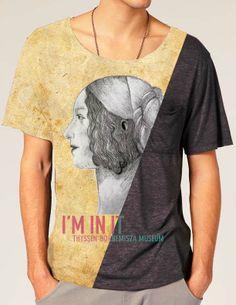 Diseño de Ewa Puhacz inspirado en la obra Giovanna Tournabuoni de Domenico Ghirlandaio http://www.museothyssen.org/thyssen/ficha_obra/365 #CamisetasThyssen