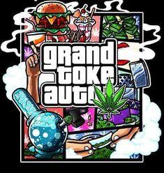 ☯☮ॐ American Hippie Weed Grand toke auto Dope Cartoon Art, Dope Cartoons, Cheech Y Chong, Arte Cholo, Weed Stickers, Drugs Art, Weed Pictures, Marijuana Art, Cannabis Edibles
