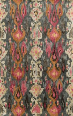 Urban style hand tufted Ikat rug from the Banshee Collection at Surya (BAN-3354).