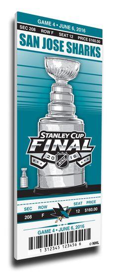 2016 Stanley Cup Final Game 4 Canvas Mega Ticket - San Jose Sharks.