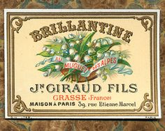 Antique Vintage French Apothecary Perfume Label 17. $5.50, via Etsy.