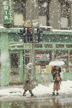 Portfolio: Saul Leiter's New York - The New Yorker San Carlo Restaurant, 1952