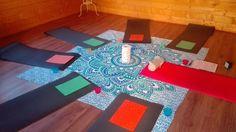 Allestimento corso massaggio infantile Shantala a Vercelli