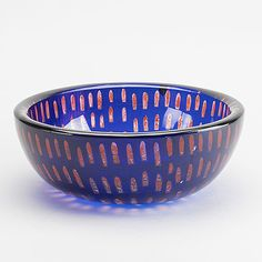 SVEN PALMQVIST - 'Ravenna' glass bowl for Orrefors, Sweden. [Ø 28 cm] Glass Design, Design Art, Glass Bowls, Ravenna, Bukowski, Helsinki, Modern Contemporary, Art Work, Decorative Bowls