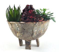#Succulent #Planter #Ceramic #Rustic Decor #Handmade #Pottery on #Etsy by DeeDeeDeesigns Dawn Whitehand