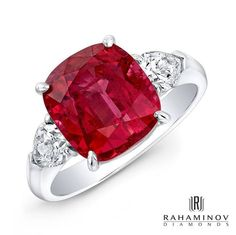 The color red in Chinese culture symbolizes luck and is said to ward away evil.   This #Rahaminov #ring would be the perfect addition to your everyday wardrobe.  www.polachecks.com