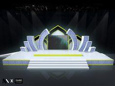 Stage design for Maolid Fair @ Krabi Stage Set Design, Church Stage Design, Museum Exhibition Design, Balloons Photography, Smart Glass, Front Gate Design, Art Deco Wallpaper, Logo Gallery, Background Decoration