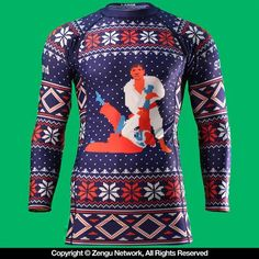 93 Brand Ugly Sweater Rash Guard