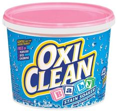 OxiClean Baby Stain Soaker Saved a fortune on new grand daughters baby clothes! Used OxiClean overnight and removed 6 year old stains! Diy Cleaning Products, Cleaning Solutions, Cleaning Hacks, Cleaning Supplies, Laundry Solutions, Laundry Supplies, Clean Car Carpet, Deep Carpet Cleaning, Green Cleaning