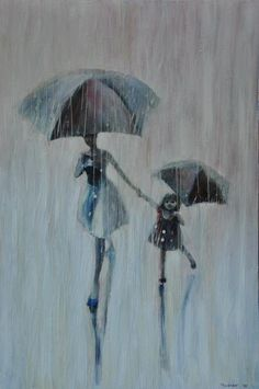 Sisters. 2011 Oil Painting Printed On Canvas