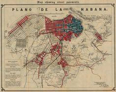 Map of Havana showing street pavements