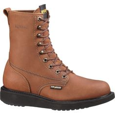 Wolverine Boots: Men's Steel Toe Wedge EH Boots 1529 Wolverine. $152.70. Man-made Safety Boots. Man-made
