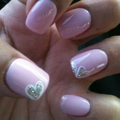 Simple Valentine nails