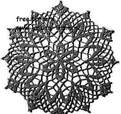 Cosmos doily free vintage crochet doilies patterns