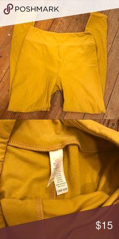 Mustard Lularoe Leggings OS Mustard colored Lularoe leggings. EUC, OS. No holes or flaws. LuLaRoe Pants Leggings